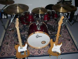 Guitars and drums